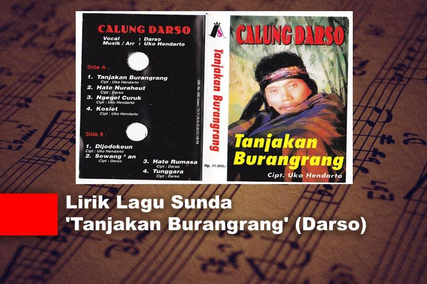 Lirik Lagu Sunda 'Tanjakan Burangrang' (Darso)