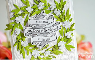 Die cut patterned paper wreath  - Iowna Palamountain
