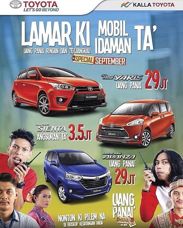 Promo Toyota Makassar Lamar Ki Uang Panai Ringan dan Terjangkau
