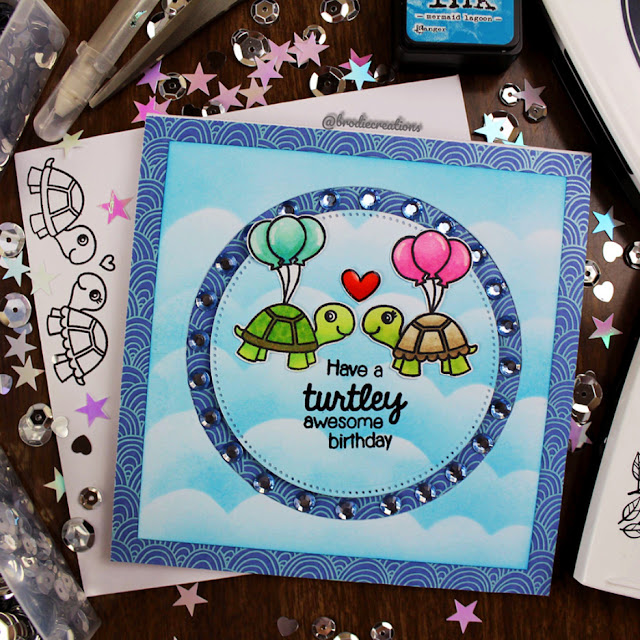 Sunny Studio Stamps: Turtley Awesome Customer Card Share by Brodie Creations