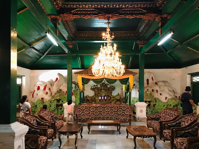 Inside the Kanoman Place, Cirebon, West Java, Indonesia