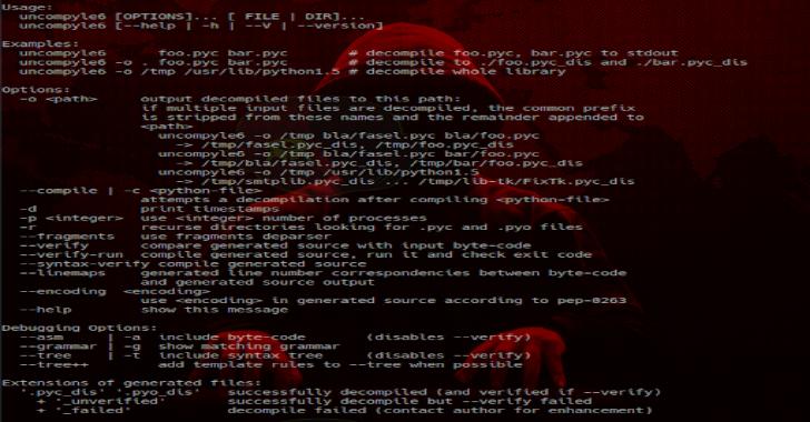 Python Uncompyle6 – A Cross-Version Python Bytecode Decompiler