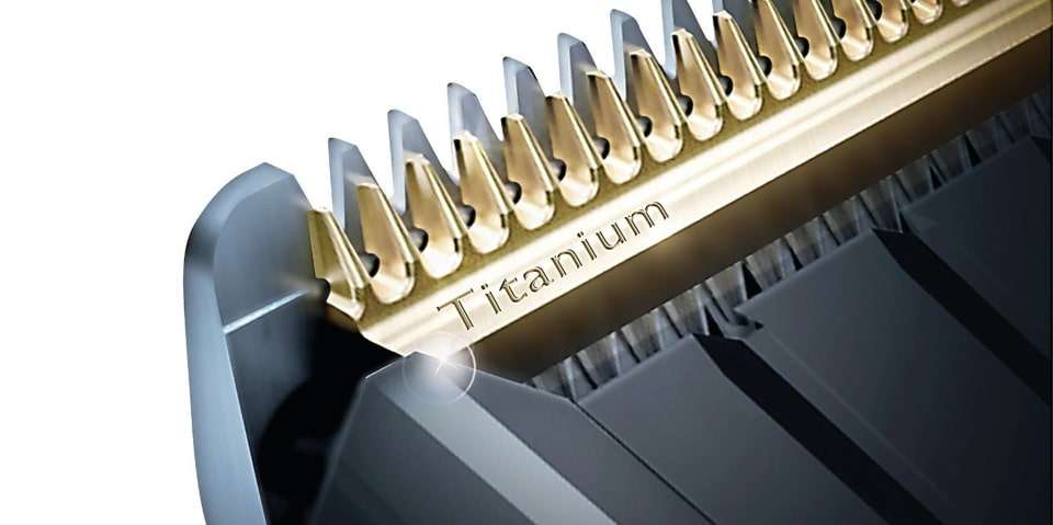 Titanium blade for trimmer.