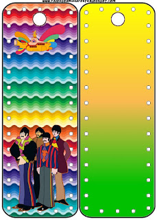 Beatles Yellow Submarine Free Printable Bookmarks.