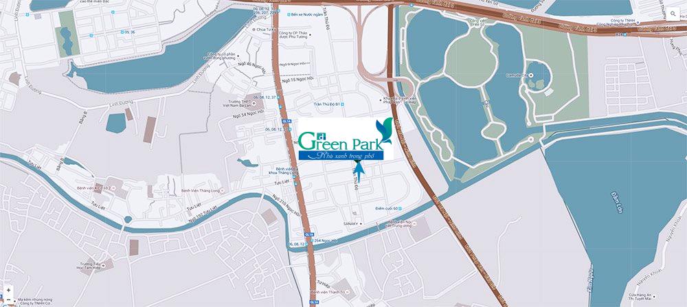 Vị trí dự án Green Park