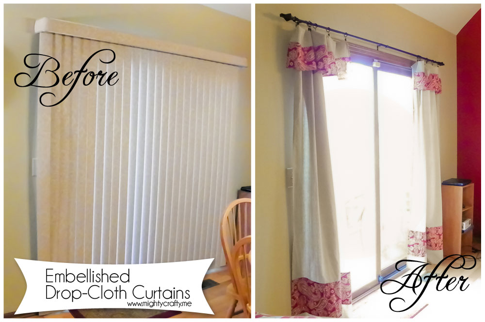 Mightycrafty Drop Cloth Curtains