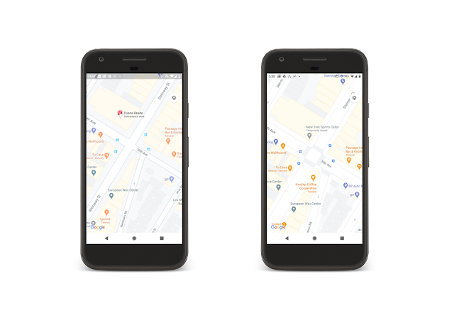 update visual google maps