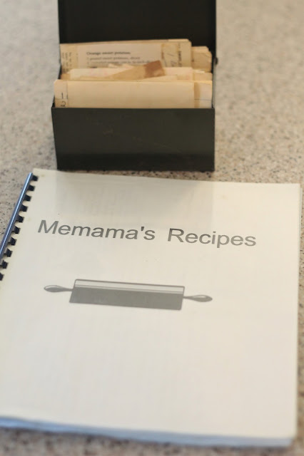 vintage metal recipe box
