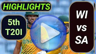 WI vs SA 5th T20I 2021