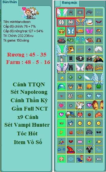 shop bán nick avatar mua nick avatar giá rẻ mã số 775