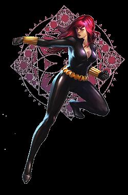 Black Widow stylish image with white transparent background