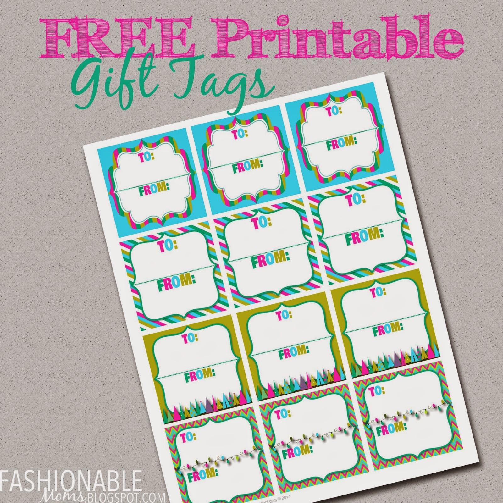 My Fashionable Designs Free Printable Gift Tags