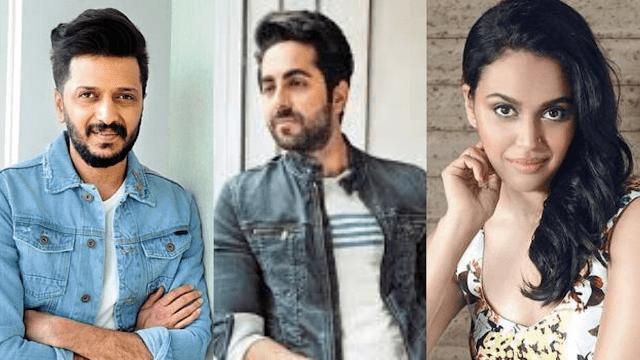 Ayushmann, Ritiesh and Swara