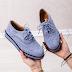 Pantofi casual dama albastri piele intoarsa eco ieftini