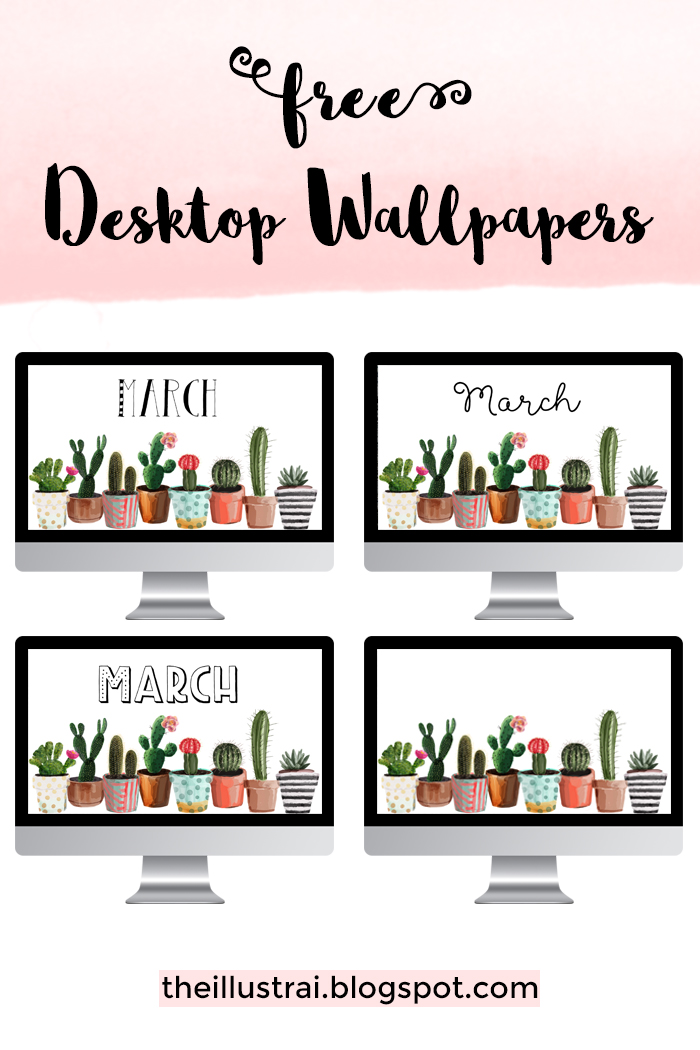 Download these adorable succulent desktop wallpapers for the month of March