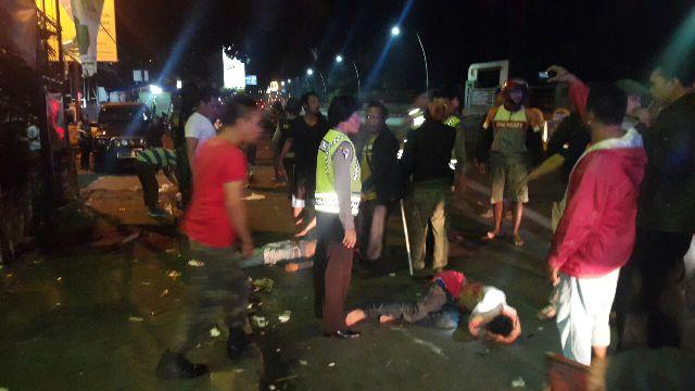 Bekas Bentrokan Geng Motor di Cimahi