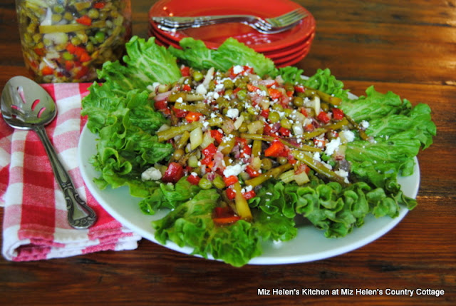 Marinated Veggie Salad at Miz Helen's Country Cottage