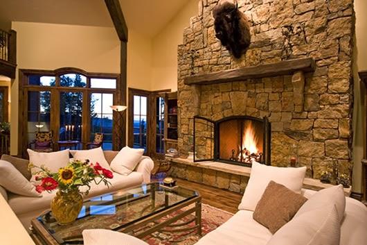 Estupendas salas con chimenea salas con estilo - Chimeneas para salon ...
