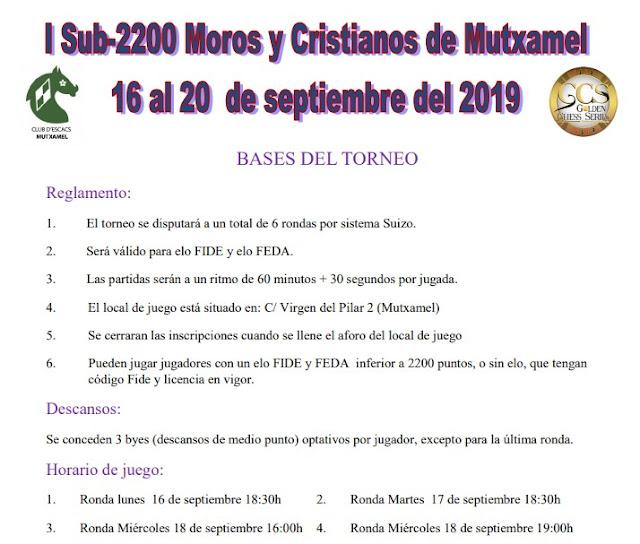 EN JUEGO, IRT Sub-2200 Moros y Cristianos Mutxamel