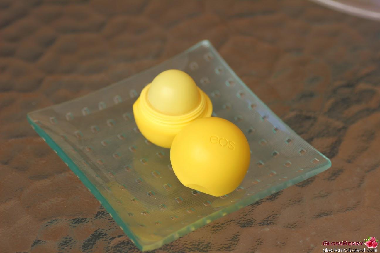 ביצת ליפ באלם לשפתיים Evolution of Smooth Lip Balm EOS lemon drop צהוב