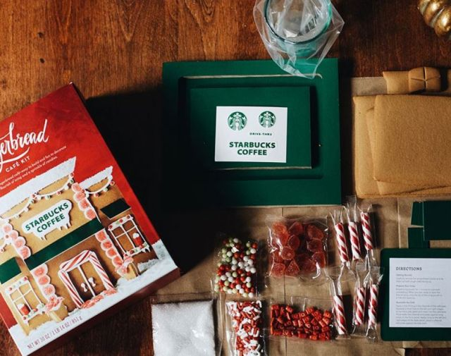 You Can Now Make Your Very Own Gingerbread Starbucks Cafe