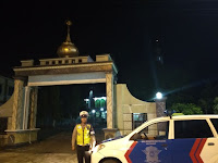 Sholat Tarawih, Beberapa Masjid di Wilayah Kab Pesawaran Tetap Dijaga Pihak Kepolisian