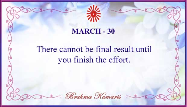 Thought For The Day March 30