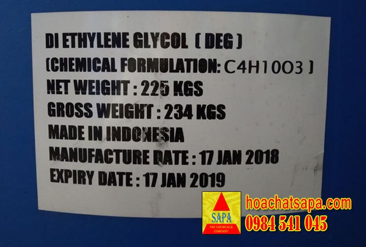 Dung môi công nghiệp Diethylene Glycol (DEG)