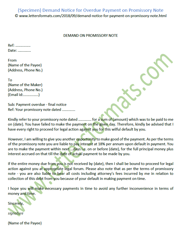 Sample Promissory Note For Delayed Payment