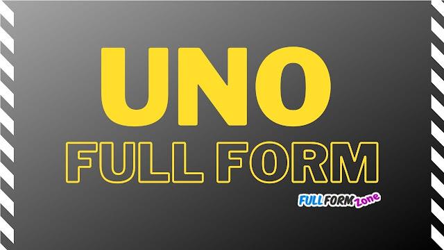 UNO Full Form