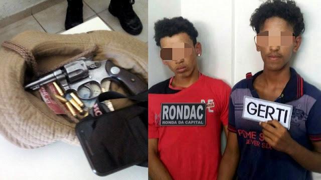 Agentes de trânsito e Guardas Municipais detém dupla minutos após assalto em Aracaju