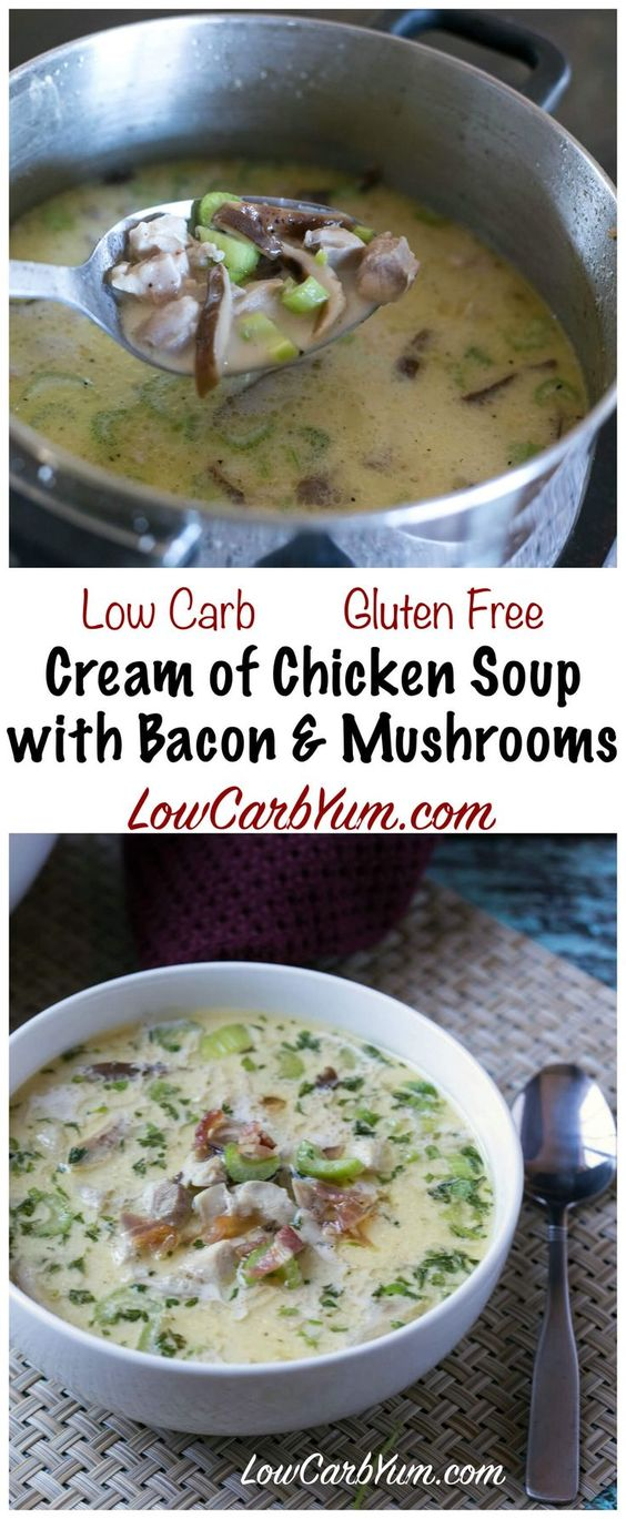 Keto Cream of Chicken Soup with Bacon