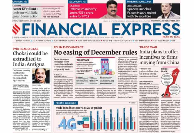 Best Business Newspapers In India 2019  Financial Express WealthyEra