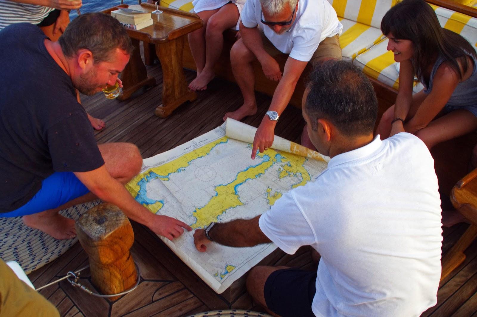 Turkey sailing map