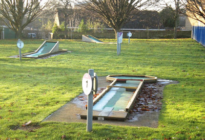 The old Mini Golf course in Cutteslowe Park, Oxford