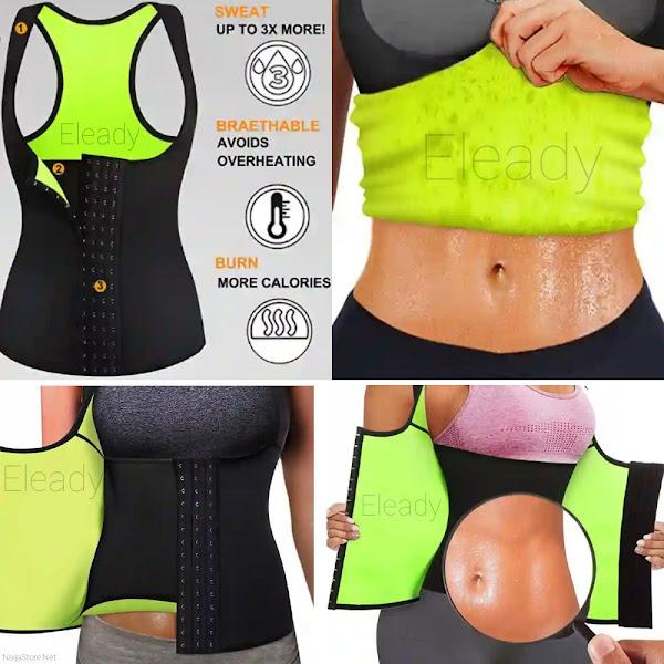 Eleady Women's Tummy Trimmer Neoprene Waist Shaper Vest - Ladies Waist Cincher Body Shaper