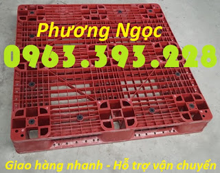 Pallet nhựa đã qua sử dụng, pallet dùng cho xe nâng, pallet kê hàng, pallet cũ PLNC4