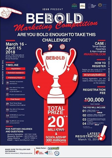 Lomba Marketing Competition BEBOLD 2018 IPMI International Business School