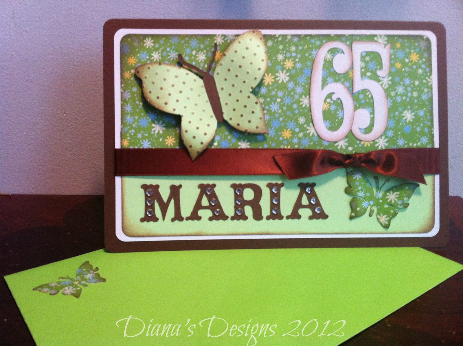 Personalized 65th Birthday Card