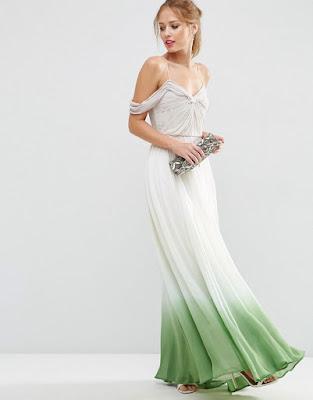 vestidos largos con chaleco de mezclilla