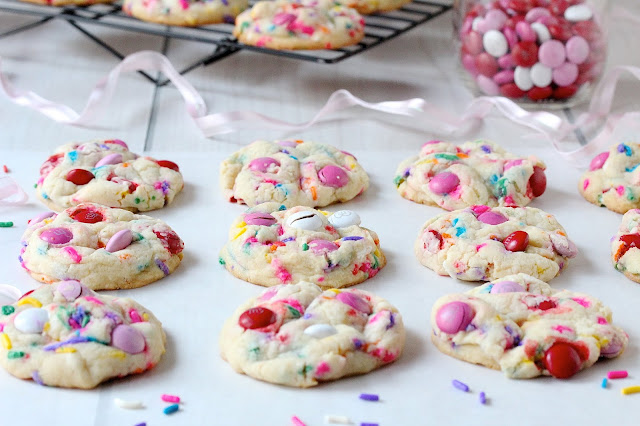 Funfetti M&M Cookies