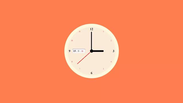 JavaScript Working Analog Clock