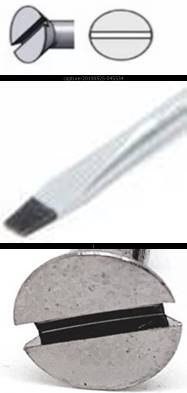 المفك العادي Flat Head (or Slotted Head) Screwdriver