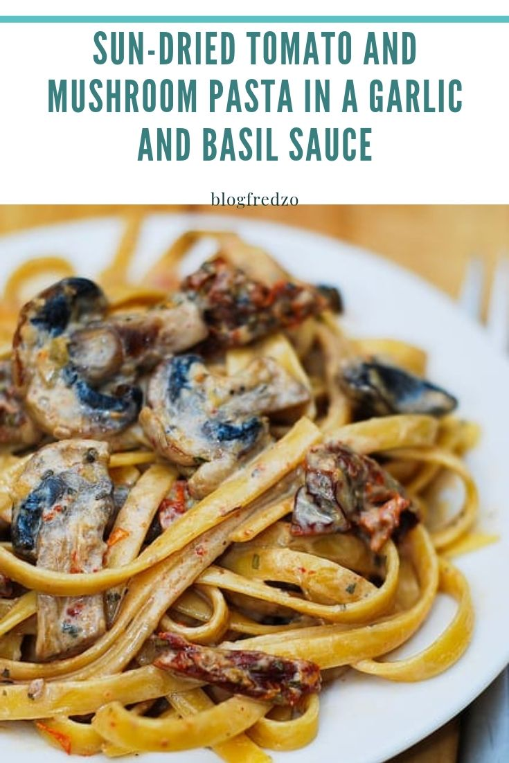 Italian-style sun-dried tomato pasta made with easy ingredients. Mushrooms and sun-dried tomatoes go exceptionally well together in this easy creamy pasta dish.