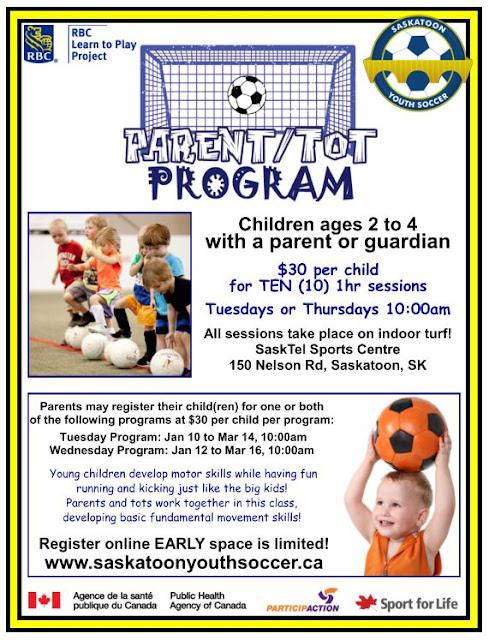 { parent & tot winter soccer program }