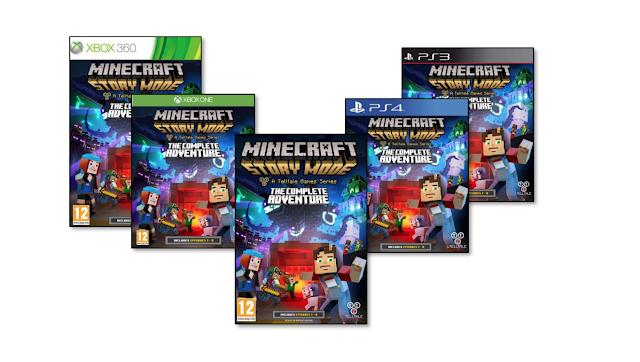 Minecraft Story Mode- The Complete Adventure llegará en format físico este viernes