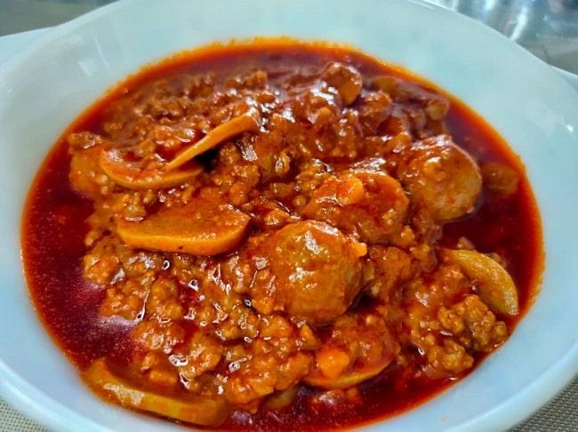 Spaghetti Bolognese Cara Melayu