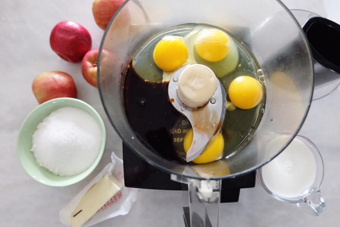 prepping mini dutch baby pancake ingredients