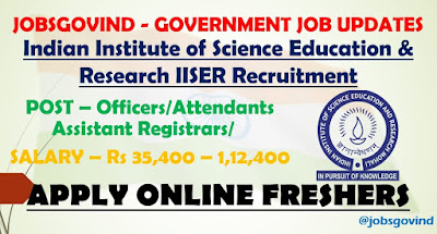 IISER Recruitment 2021