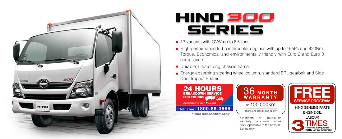 Motoring Malaysia Truck News Hino Malaysia Upgrades Their 300 Series Light Commercial Vehicle